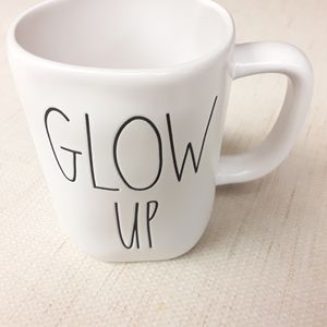 Glow Up Rae Dunn Coffee Tea Mug Boho NWOT